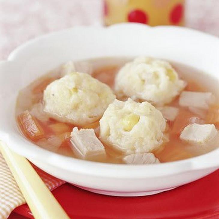 Turkey Soup with Cheddar Dumplings Recipe