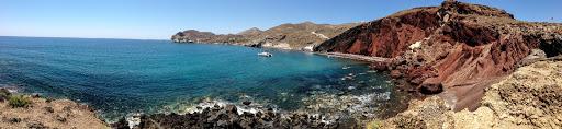 Akrotiri-Santorini-Greece - The Red Beach near Akrotiri on the Greek island of Santorini.