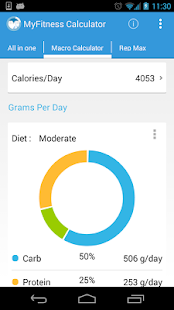 MyFitness BMI Calculator IIFYM- screenshot thumbnail