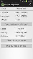 Screenshot of GPS Lat/Long Viewer