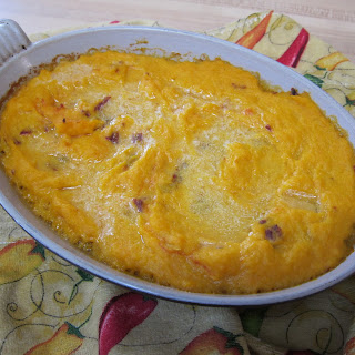 Roasted Butternut Squash Gratin with Chipotles.