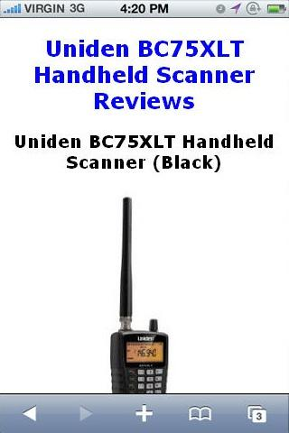 BC75XLT Scanner Reviews