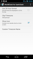 Screenshot of WorldClock for DashClock