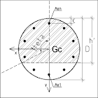 R.C. Analysis Circular Section icon