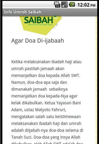 玩旅遊App|Info Umroh Saibah免費|APP試玩