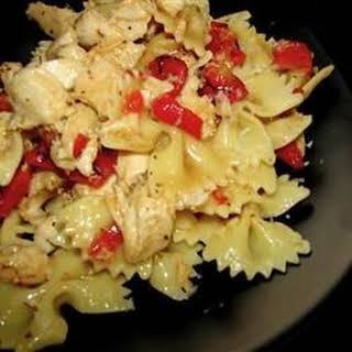 Italian Chicken Bow Tie Pasta.