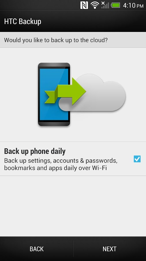 HTC Backup- screenshot