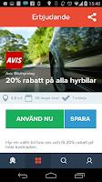 Screenshot of Klipster erbjudanden
