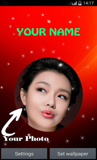 My Name Photo Live Wallpaper