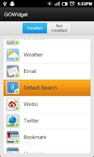 GO Default Search Widget - screenshot thumbnail