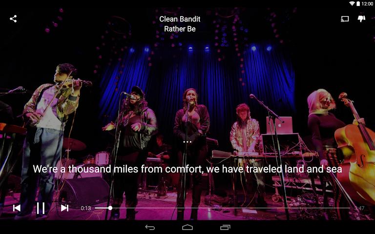 android Musixmatch Songtexte Screenshot 3