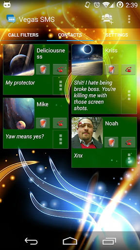 Vegas SMS Fire Theme