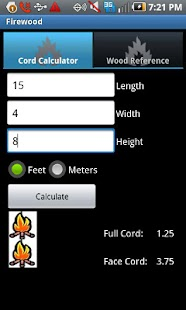 Firewood Calculator - screenshot thumbnail