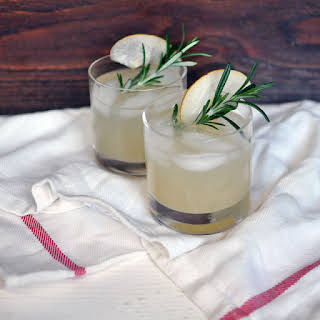Asian Pear and Rosemary Sparklers.