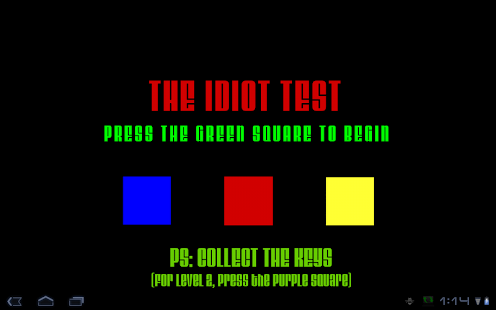 Idiot Test- screenshot thumbnail