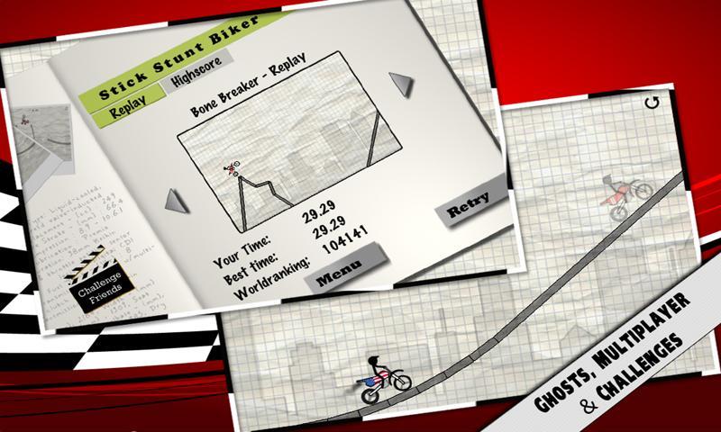Stick Stunt Biker Free- screenshot