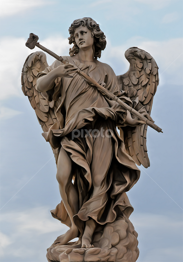 Rome's Angel by Manal Ali - Digital Art Things ( angel, rome, cloud, italy,  )