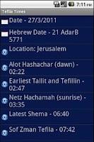 Screenshot of Tefila Times + Widget