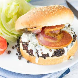 Peppercorn Blue Cheese Bacon Burger