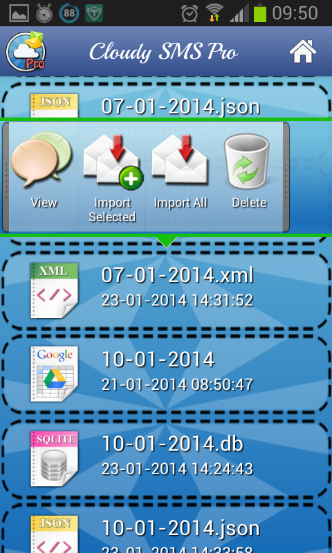 Cloud Sms Backup- screenshot