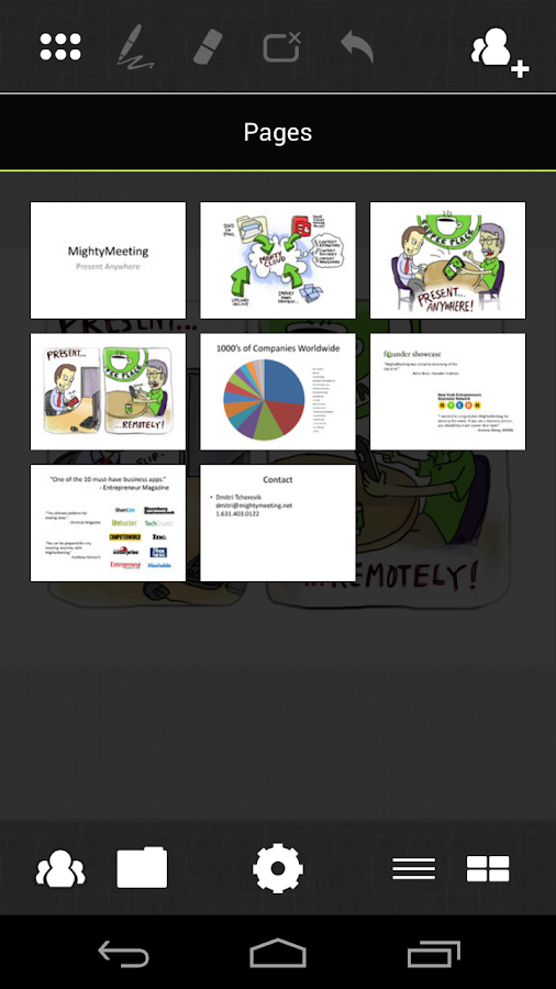 PPT and Whiteboard Sharing - screenshot