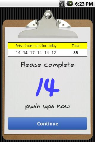 Push Ups - screenshot