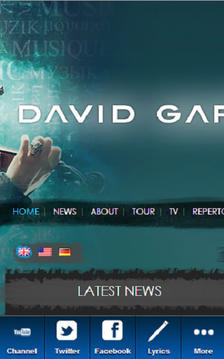 David Garrett Blue Fan - screenshot