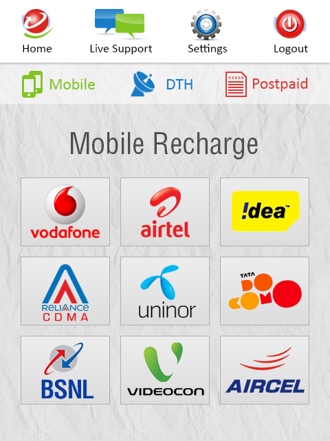 #19. My Recharge With Live Supports (Android)