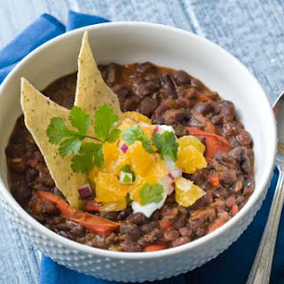 Gluten Free Spicy Citrus Black Bean Soup