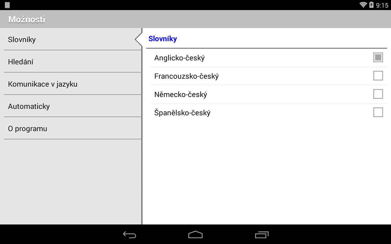 HandyLex 4 Czech- screenshot