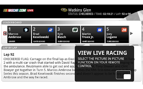 NASCAR.COM LIVE - screenshot thumbnail