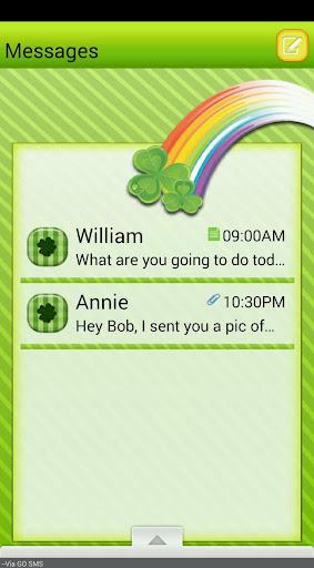 St.PattyDay2 GO SMS THEME