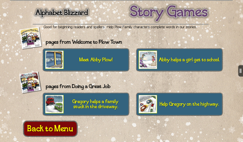 Alphabet Blizzard- screenshot