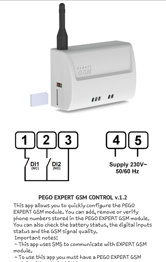 Pego Expert Gsm- screenshot