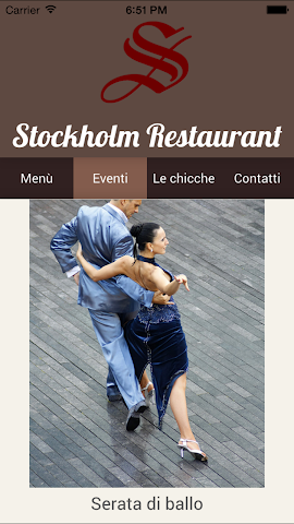 Screenshot 2 Ristorante Stockholm