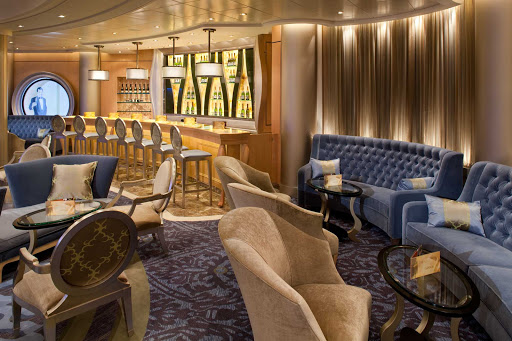 Stop by the elegantly decorated Champagne Bar aboard Allure of the Seas for a glass of champagne or just to kick back.