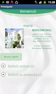 Biocontrol Referti on-line - screenshot thumbnail