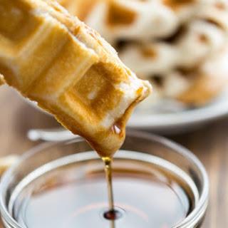 Peanut Butter Waffle Sandwich Sticks
