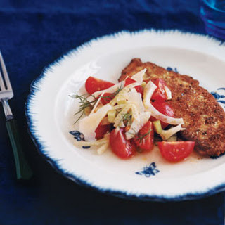 Pan-Fried Chicken Cutlets with Cool Fennel Salad.