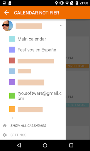 Calendar Events Notifier