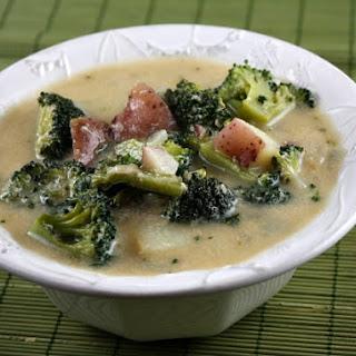 Hearty Broccoli- Potato Soup.