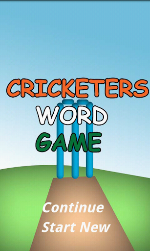 Cricketers Word Game