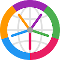 Horzono time zones world clock icon