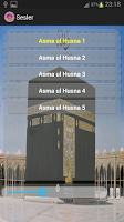 Screenshot of 99 names of Allah with sound