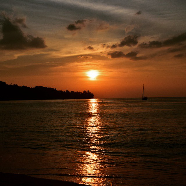my sunset scenery at kamala beach and first photo in my album  by Thanya Rodriguez - Landscapes Beaches