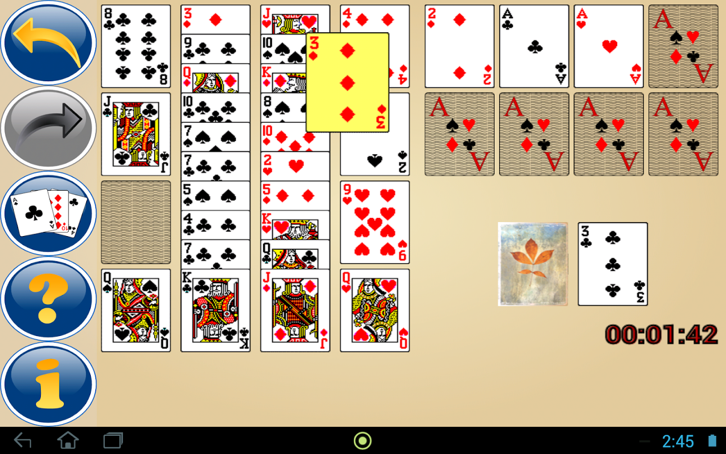 card games solitaire 3 card