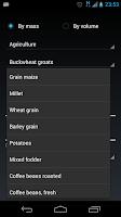 Screenshot of Calculator bulk materials.