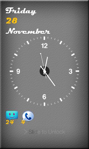锁屏模拟时钟