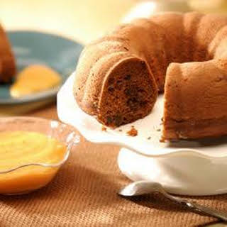 Carrot Spice Cake with Apricot Curd.