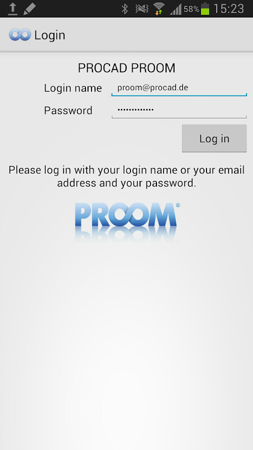 PROOM- screenshot